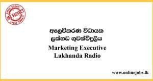 Marketing Executive - Lakhanda Radio Vacancies 2020