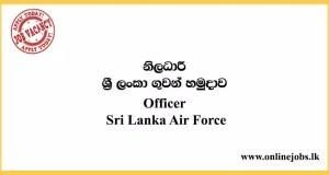 Officer Vacancies - Sri Lanka Air Force Vacancies 2020