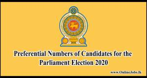 Preferential Numbers of Candidates for the Parliament Election 2020