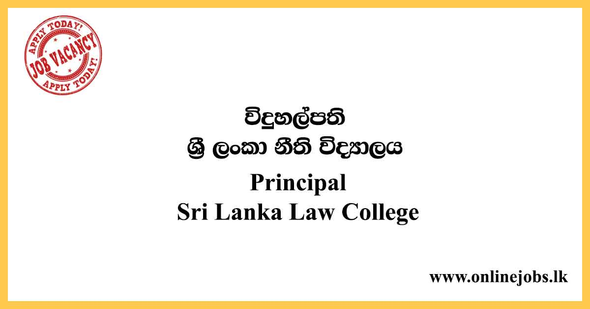 Principal - Sri Lanka Law College