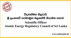 Scientific Officer - Atomic Energy Regulatory Council of Sri Lanka