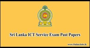 Sri Lanka ICT Service Exam Past Papers
