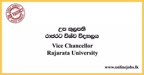 Vice Chancellor Rajarata University