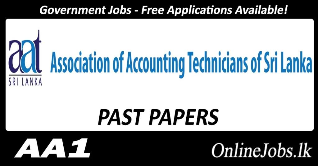 AAT Business School Past Papers ( AA1 ) 2017 July Exam