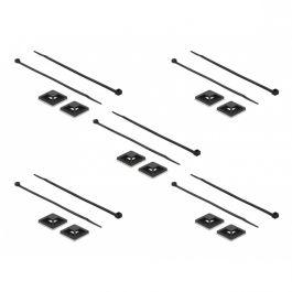 Tie-wraps 200 x 4,8mm (10 stuks) met zelfklevende houders