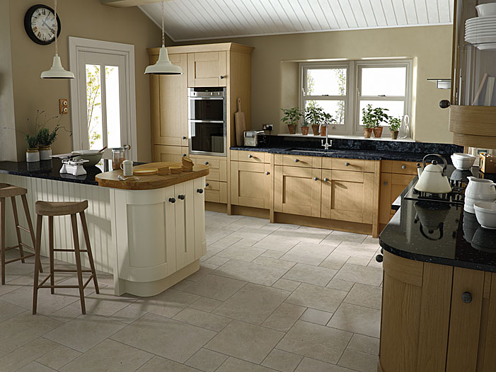 Milbourne Oak  Cheap Kitchens Ireland Fitted Kitchens