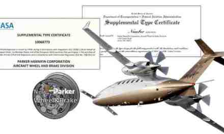 PIAGGIO AEROSPACE: CERTIFIED PARKER STEEL BRAKES BRING REDUCED OPERATING COST