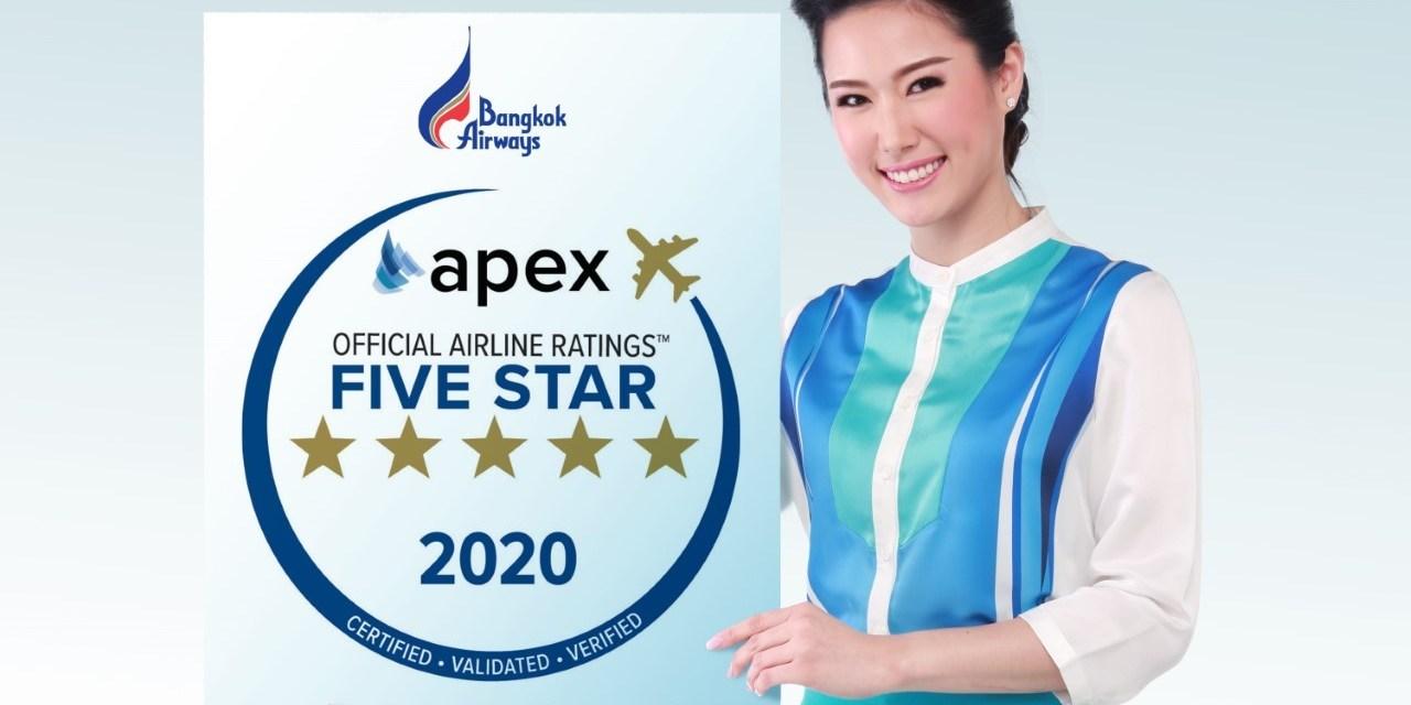Bangkok Airways named 2020 Five Star Major Airline by APEX
