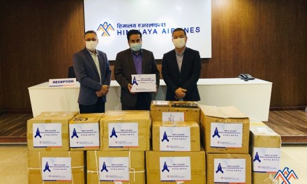 Himalaya airlines donates medical supplies to AMDA hospital