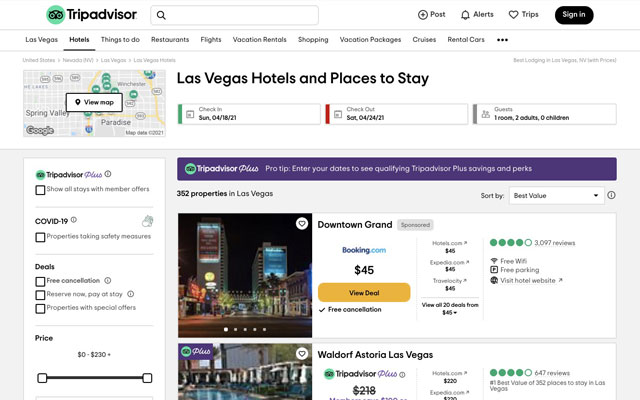Tripadvisor Plus aims to help hotels boost direct bookings