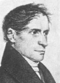 Joseph Freiherr von Eichendorff - - Zeichnung von Franz Kugler