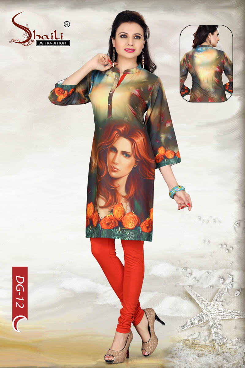 Digital print tunics