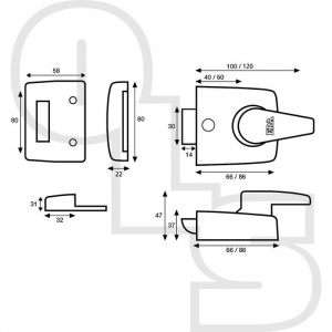 ERA 1430 REPLACEMENT DEADLOCKING NIGHTLATCH WITH 40mm BACKSET