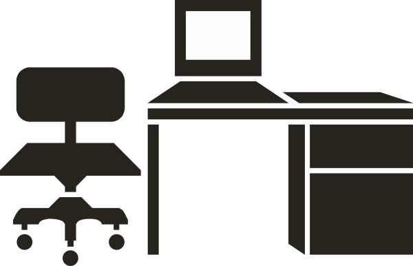 Clip Art Black and White Office Furniture