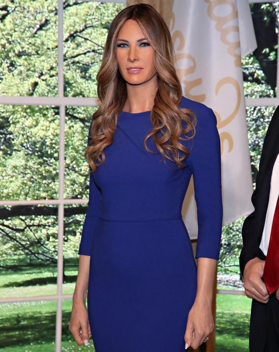 Melania Tramp, Wax Figure, Melania Trump Wax Figure, Donald Trump