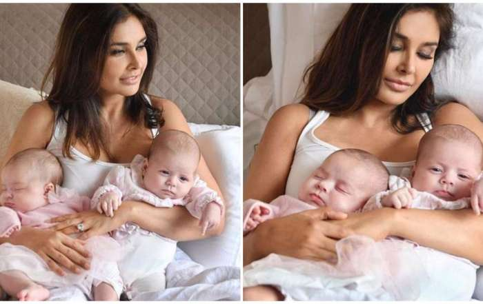 Lisa Ray become mother of twin daughters.