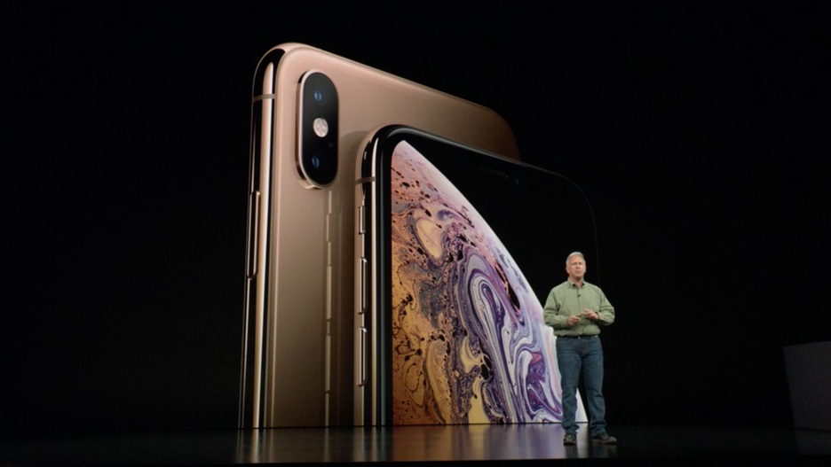 Apple introducing the new iPhone Xs and iPhone Xs Max.