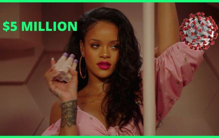 Rihanna Donated 5 Million Dollars