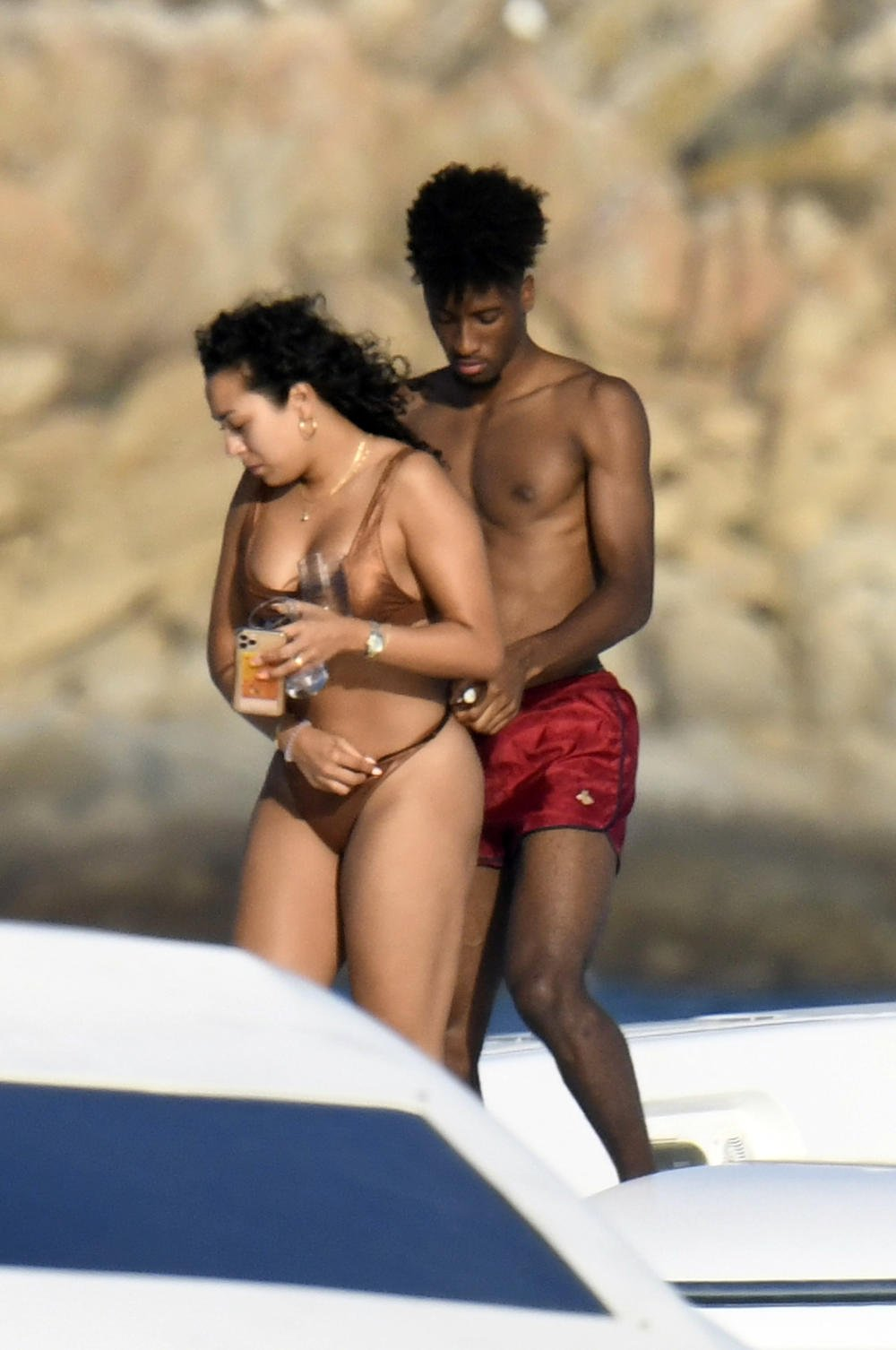 Kingsley Coman on Yacht With His Girlfriiend
