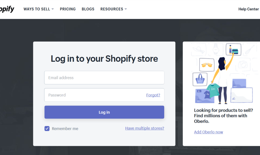 Shopify Login Account Here | Learn How To Login Shopify Sell Account