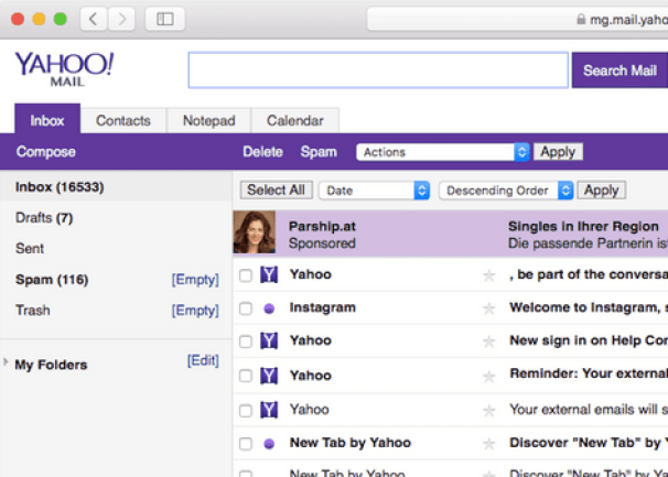Chat and send Messages on Yahoo Mail