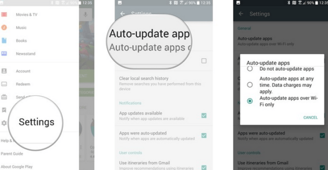 Set Your Apps to Auto-update Over Wifi Only Through Your Google Play Store
