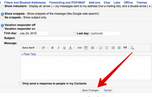 How to Save Changes in Your Gmail