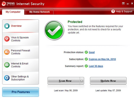 About the Trend Internet Security