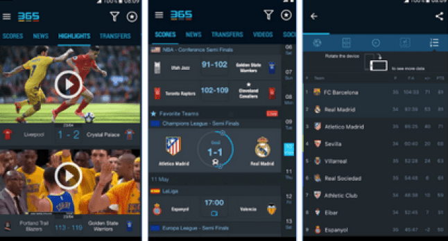 365 Scores Live Football Streaming App