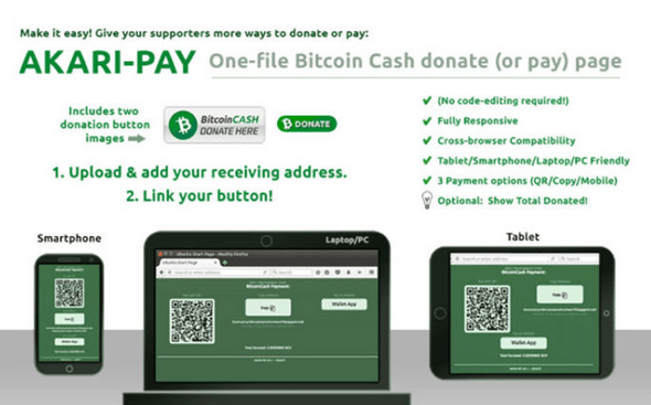 Akari-Pay Global Platform Launches Bitcoin Cash Payment System
