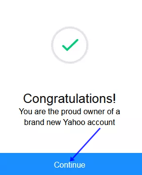 France Yahoo Mail New Account Confirmation.