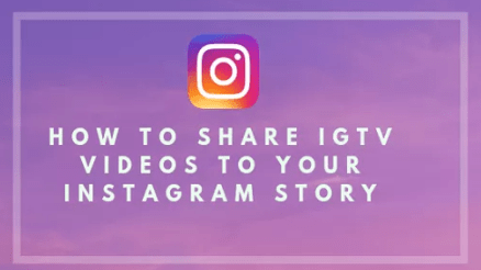 Image: Share IGTV Videos to Instagram