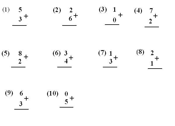 Answers for addition worksheets