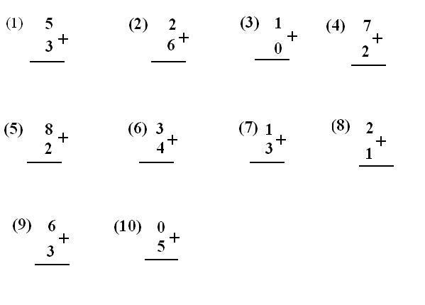 Worksheets for addition