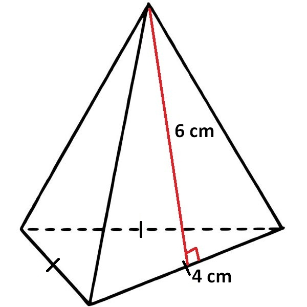 Surface area of pyramid with triangular base