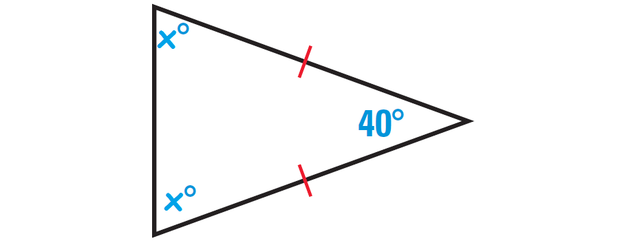 Using angle measures in triangles