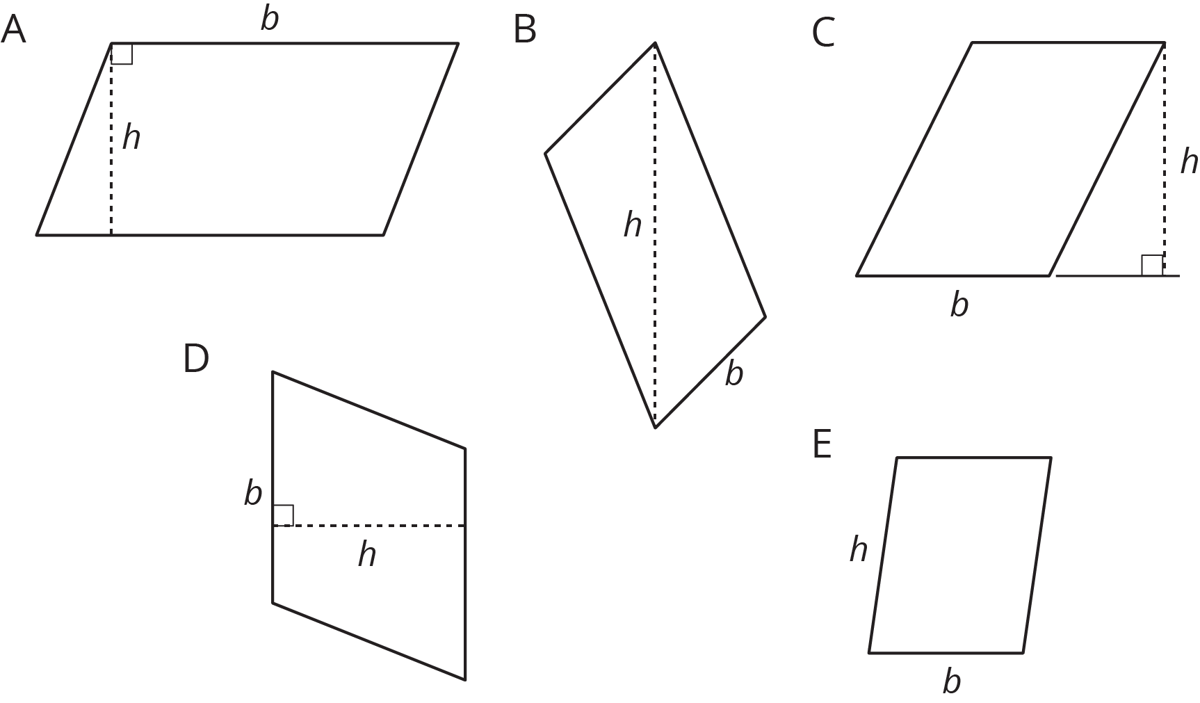 hight resolution of Bases and Heights of Parallelograms: Illustrative Mathematics