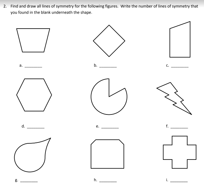Lines of Symmetry (examples, solutions, videos, homework