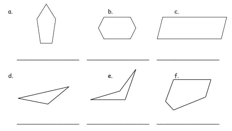 Identify Two-dimensional Shapes (solutions, examples