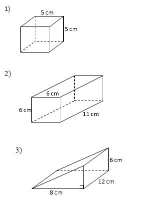 Find the surface area of solids (Worksheets and Solutions)