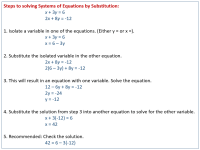 Solving Systems of Equations by Substitution (examples ...