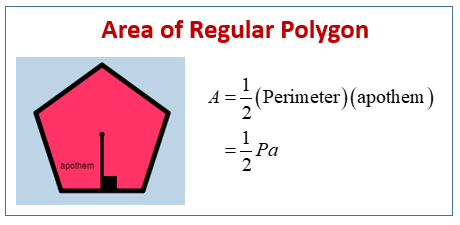 Area of Regular Polygons (examples, solutions, videos, worksheets ...