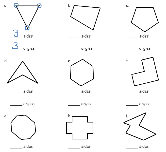 Two-dimensional Shapes based on Attributes (solutions