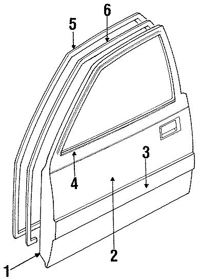 1987 Mazda B2000 Belt molding. MOULDING, Belt. (Right
