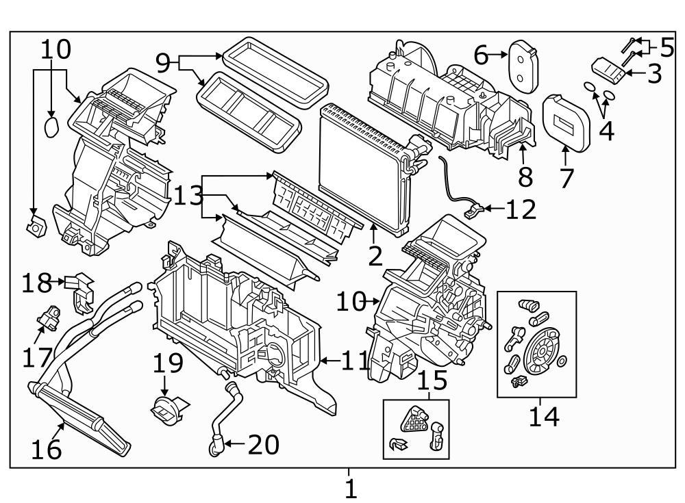 2016 Mazda CX-5 2.5L A/T FWD A/c evaporator drain clip