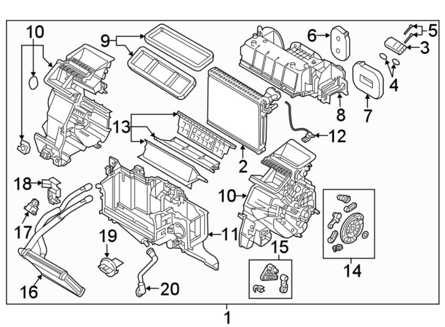 2016 Mazda CX-3 Sensor. Temperature. EVP. Evaporator