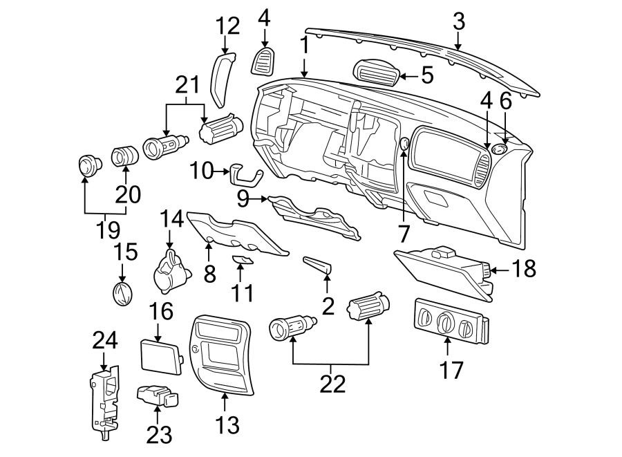 Mazda B3000 Instrument Panel Bezel. 2WD, w/fog lamps. Wfog