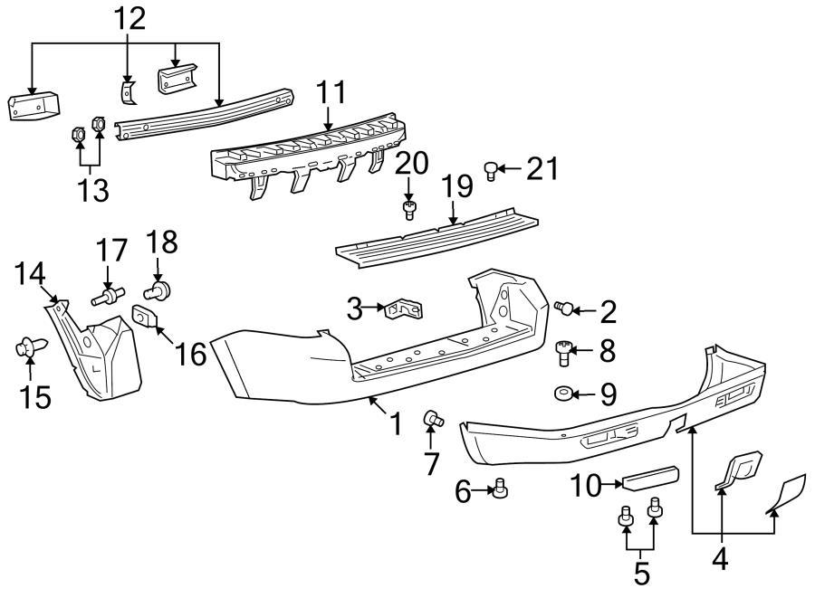 Mazda Tribute Bumper Guide. Rear Right. COMPONENTS, Body