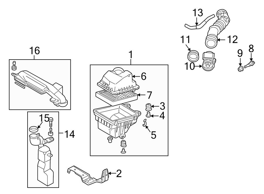 2000 Mazda Air Filter Housing Lid Clip. LITER, Cleaner