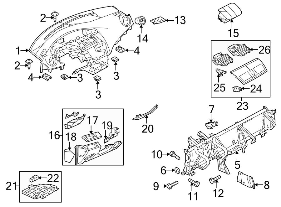 2011 Mazda 3 i Sedan 2.0L A/T Instrument Panel Crossmember
